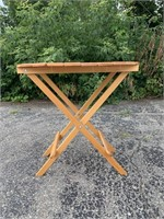 Vintage Wooden Folding Table