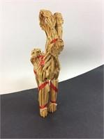 Handmade Straw Reindeer 13 Inch