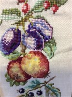 Pair of Vintage Needlepoint Wall Hanging Banners