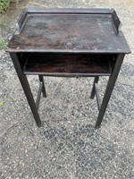 Tall Wooden Vintage Table