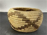 """Papago Indians Of Arizona"" Handmade Native Basket"