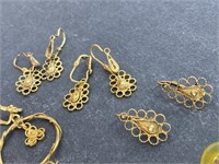 VTG Handmade Gold Tone Jewelry Lot