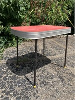 Retro Metal Banded Side Table