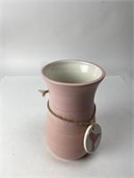 8 Inch Ceramic Vase with Ceramic Hummingbird