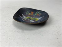 VTG Enamel on Brass Butterfly Dish HOLLAND
