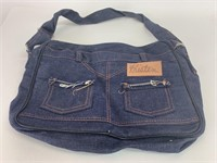 Vintage Handmade Denim Jeans Purse