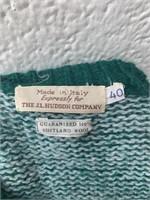 Vintage 100% Italian Shetland Wool Sweater