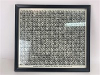 Vintage Class of 1952 Framed Yearbook Photo