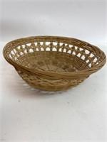 Vintage Wicker Basket & Other Lot