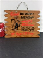 Vintage Wood Golf Decoration