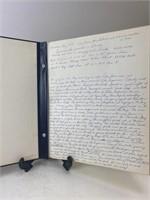 Vintage Handwritten Vacation Travel Log