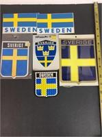 Vintage Swedish Vinyl Decal Stickers