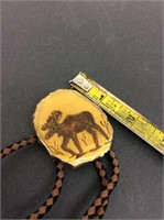 Vintage Alaskan Bone Antler Bolo Tie
