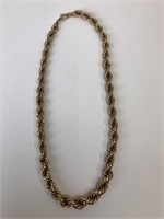 Vintage Gold Filled Braided Chain Necklace