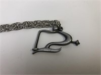Vintage Pewter Necklace by Jorge