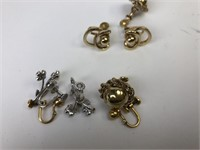 Vintage Clamp Earrings Some Gold Filled