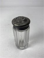 Antique Glass Bottle w/ Sterling Silver Cap