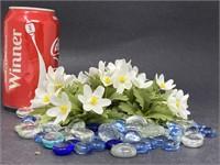Floral Stones & Artificial Flowers