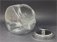 Vintage Glass and Metal Candy Canister