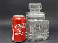 Vintage Molded Glass Canister