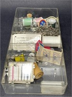 Vintage Plastic Sewing Caddy W/Accessories