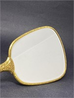 Vintage Metal Hand Vanity Mirror