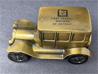 First Federal Savings of Detroit Metal Piggy Bank