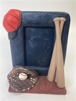 Ceramic Baseball Themed Frame