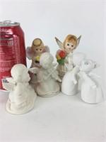 Ceramic & Porcelain Angel Figurine Lot