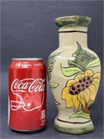 Mexican Hand Painted Ceramic Vase