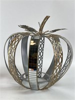 Metal and Glass Decorative Apple