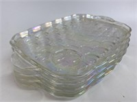 Vintage Iridescent Glass Serving Trays