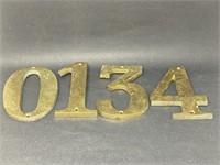 Vintage Brass Address Numbers
