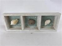 Vintage Wood and Seashell Hanging Wall Art
