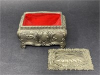 Vintage Japanese Metal Trinket Box