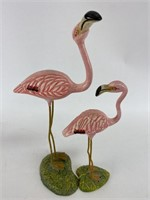 Vintage Disney Resin Flamingo Figurines