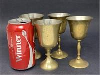 Vintage Indian Brass Stemware