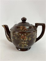 Vintage Japanese Hand Painted Ceramic Teapot