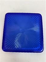 Vintage Cobalt Glass Tray