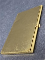 Vintage Brass Business Card Holder