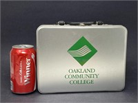 Oakland Community College Tin Lunchbox