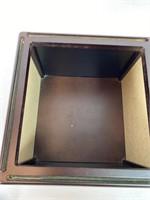 Glass & Wood Lazy Susan Photo Box