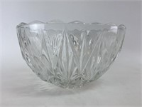 Vintage Glass Punch Bowl W/Punch Glasses