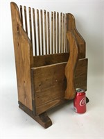 Vintage Large Wood Cranberry Scoop