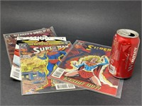 3 Superman & 1 Supergirl Comics