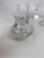 Vintage Glass Candle Holder's Sticks & Votives