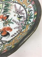 Vintage Chinese Lord & Taylor Pewter Ceramic Plate