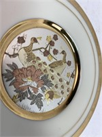Chokin Etched Copper Gilded Silver Gold Art Plate