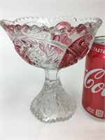 Vintage Glass Goblet vase