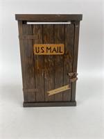 Vintage Kruse Kraft Lodge Wood Mail Box